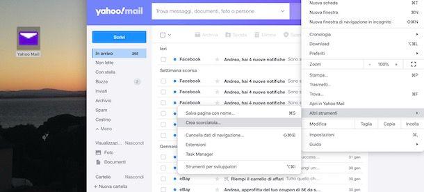 Mettere icona Yahoo sul desktop