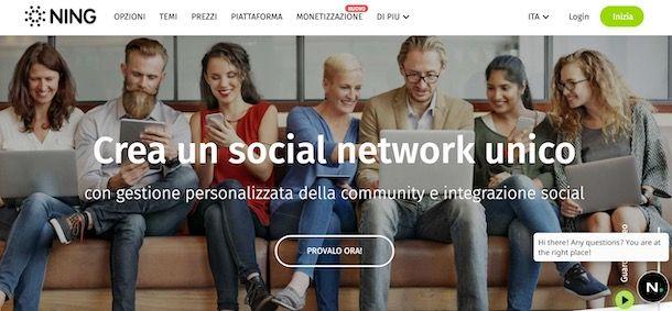 Creare un social network con Ning
