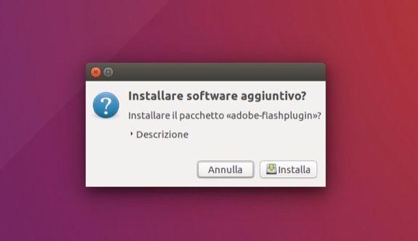 Come installare Flash Player Ubuntu