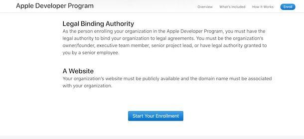 Programma sviluppatori Apple