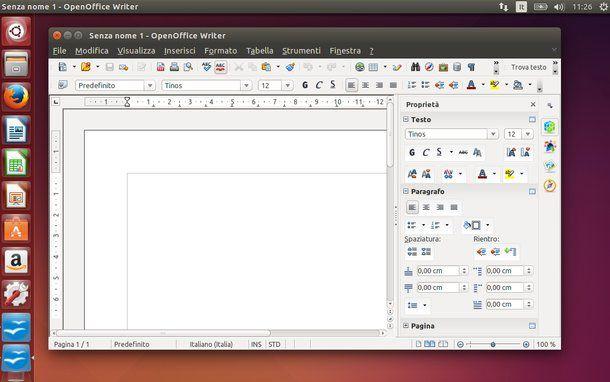 open office writer gratis in italiano