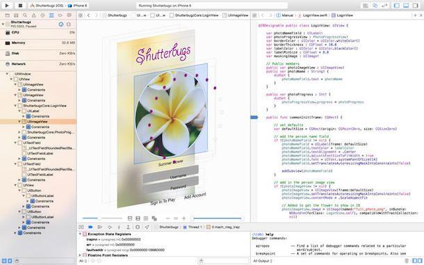 Screenshot che mostra come creare app gratis