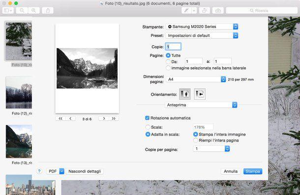 Trasformare foto in PDF su Mac