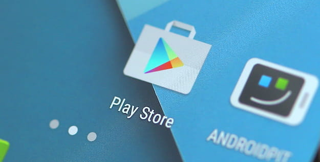 Foto che mostra l'icona di Google Play Store su Android