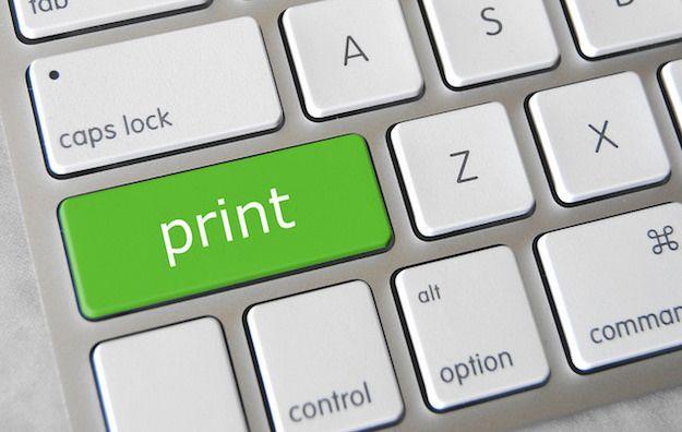 Foto che mostra il pulsante Print sulla tastiera di un Mac