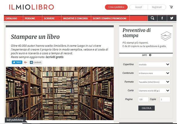 Come stampare libri online