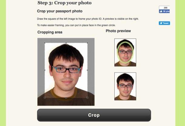 Come stampare foto tessera