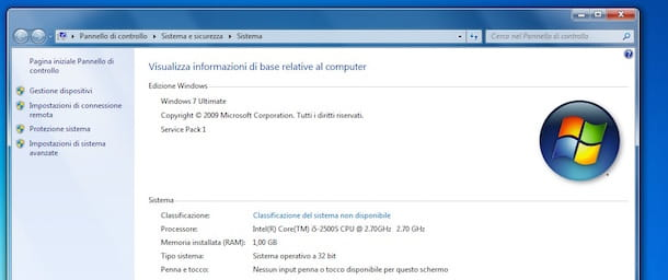 Screenshot che mostra come aumentare RAM PC