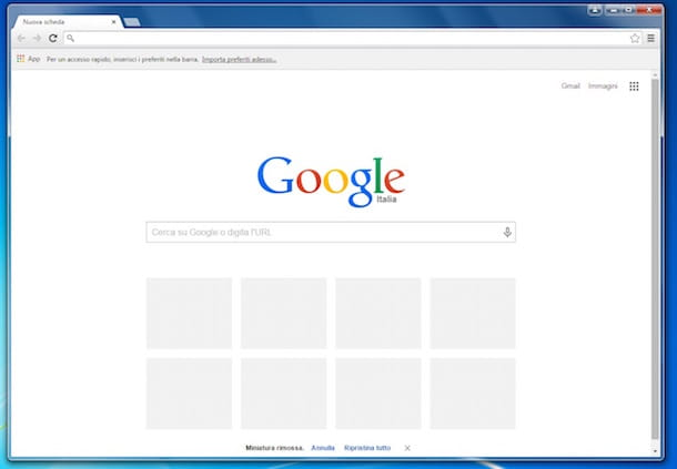 Screenshot che mostra come installare Chrome