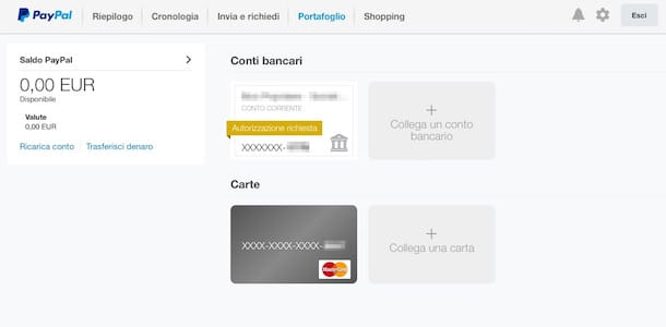 Screenshot che mostra come si usa PayPal