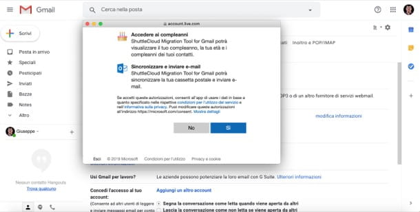 Sincronizzare messaggi in entrata da Gmail a Outlook