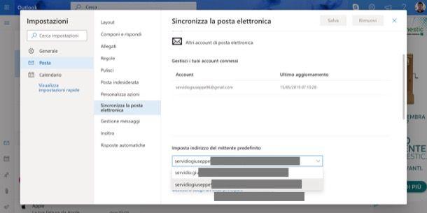Sincronizzare messaggi in uscita da Gmail a Outlook