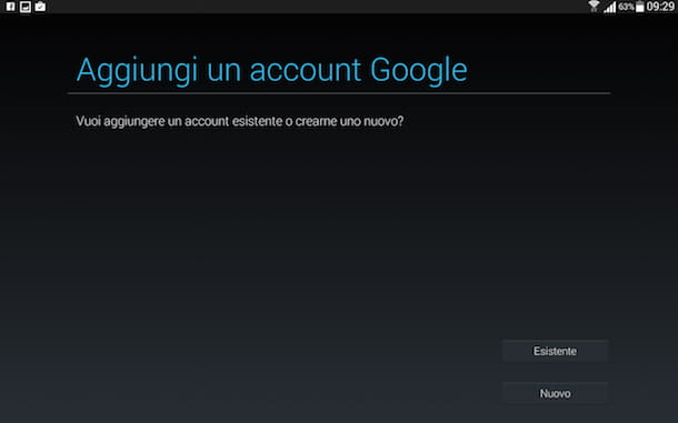 Screenshot che mostra come accedere account Google