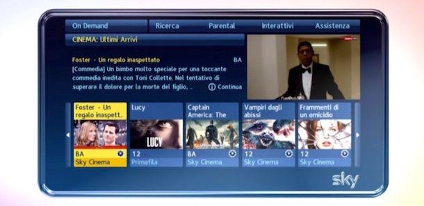 Screenshot che mostra come collegare Sky a Internet
