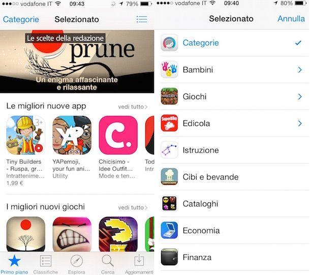 Screenshot che mostra come scaricare app