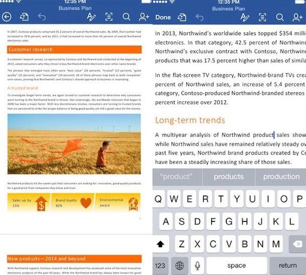 Screenshot che mostra come scaricare Microsoft Word