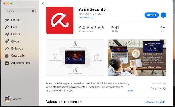 Scaricare Avira dal Mac App Store