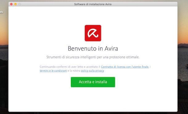 Installare Avira su Mac