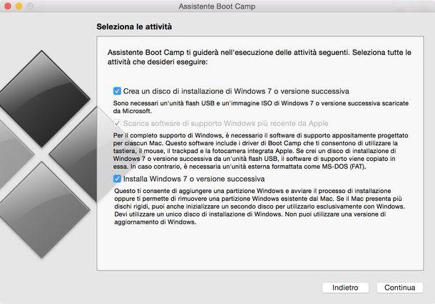 installare windows 7 su mac mini