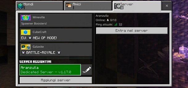 Server Bedrock Creato Minecraft