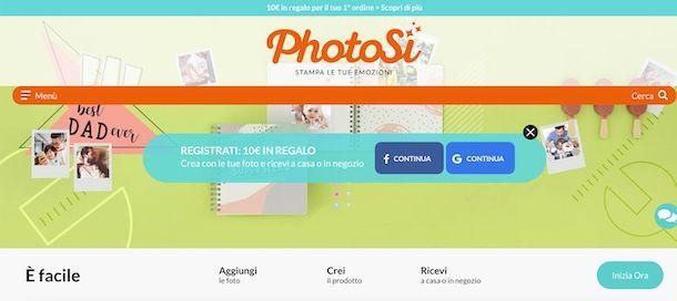 Come stampare foto online