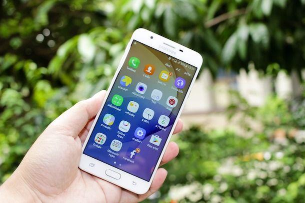 Foto di uno smartphone Android