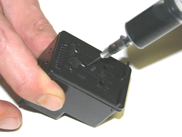 Screenshot che mostra come ricaricare cartucce HP