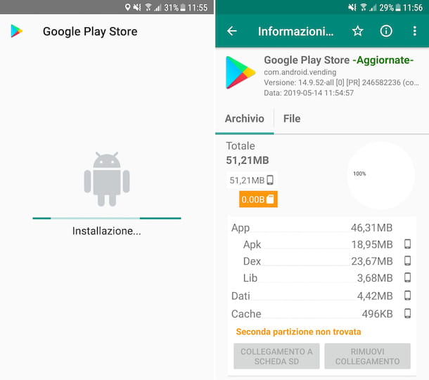 Installare Play Store su Android