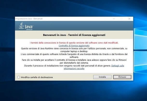 java installazione windows