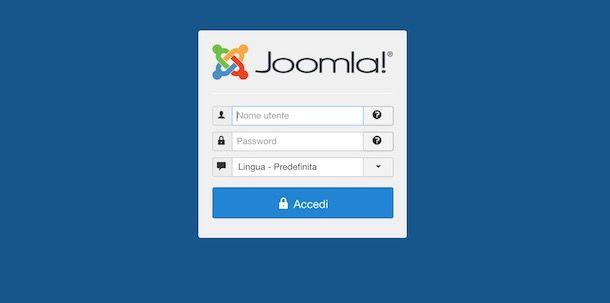 Accedere al pannello di Joomla