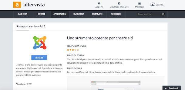 Creare sito Altervista con Joomla