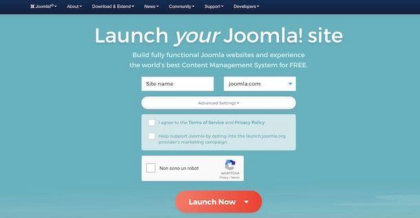 Creare sito con Joomla! Launch