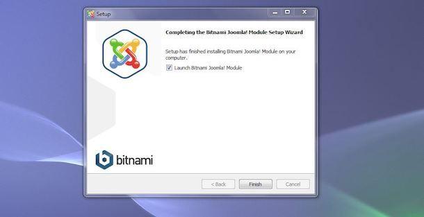 Completare installazione Joomla con XAMMP