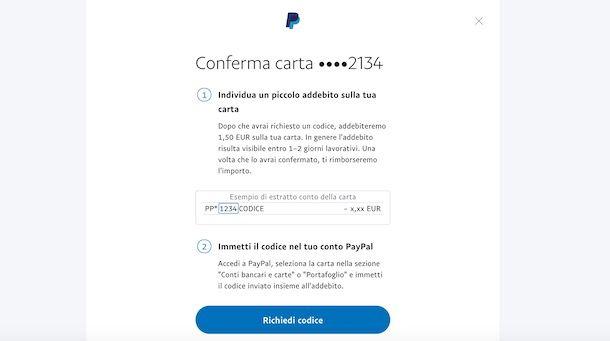 Verificare carta Postepay sy PayPal