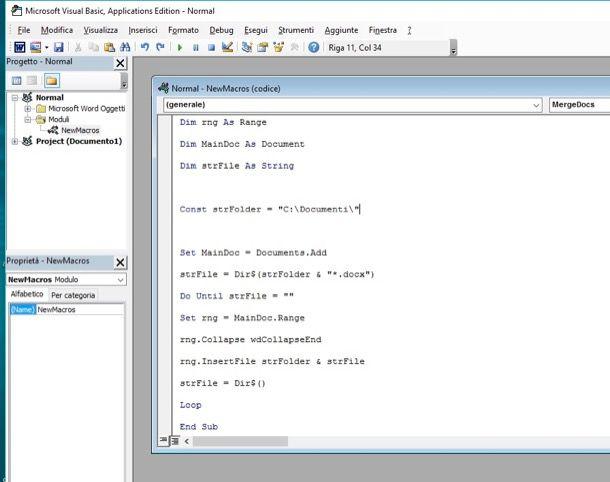 Come unire file Word