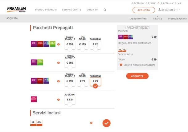 Offerte Mediaset Premium