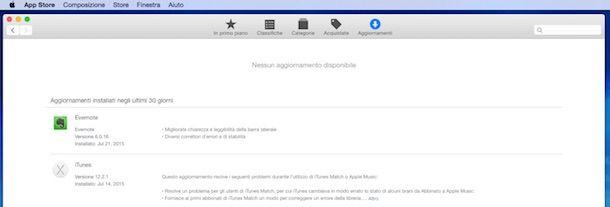Screenshot che mostra come aggiornare Safari