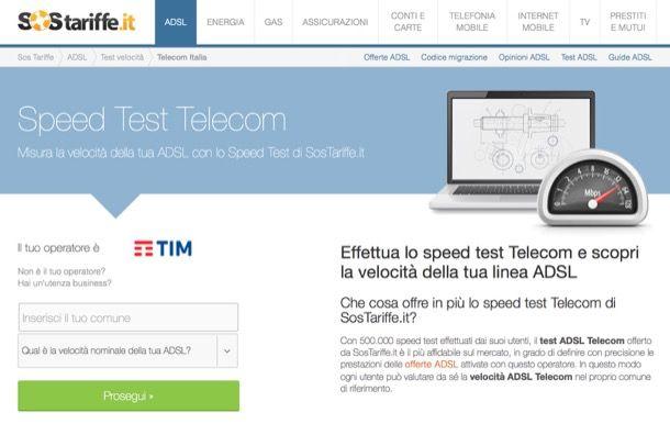 Test ADSL