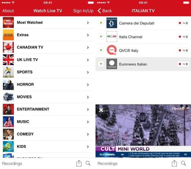 Streaming TV gratis