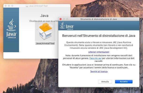 Aggiornamento Java
