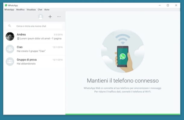 WhatsApp per PC: come inviare messaggi da computer