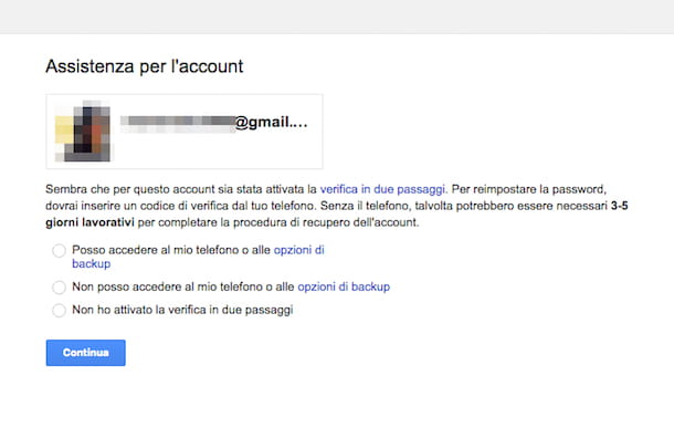 Come recuperare account Google