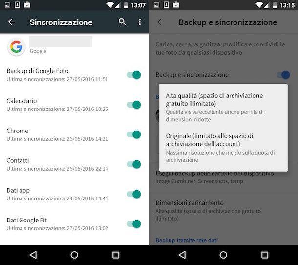 Come effettuare un backup Android
