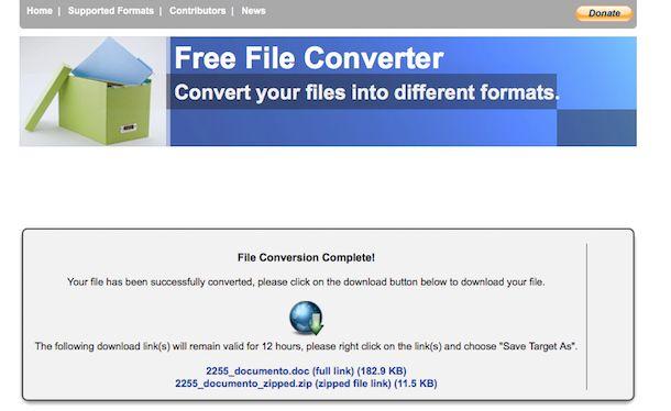 converti in pdf da word