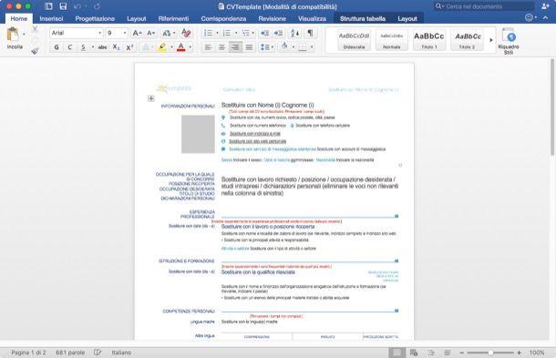 Curriculum Vitae Europeo Da Compilare Salvatore Aranzulla