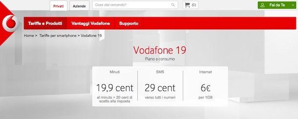 Tariffe Vodafone
