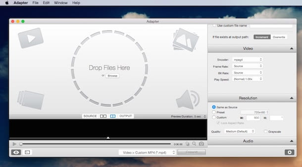 Screenshot che mostra come convertire MKV in MP4 su Mac