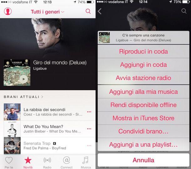 Immagine che mostra come scaricare musica gratis iPhone