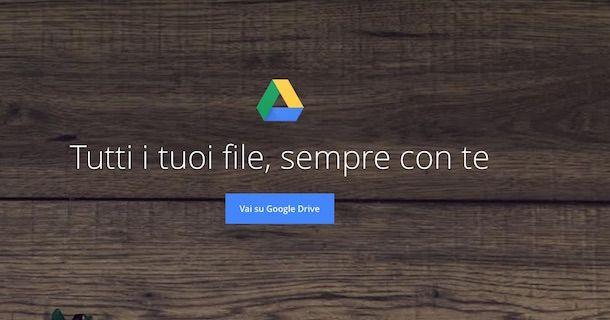 Screenshot di Google Drive
