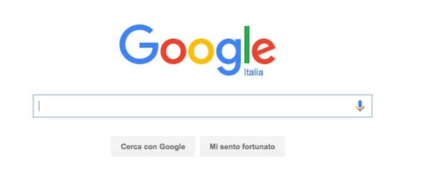 Screenshot di Google Search
